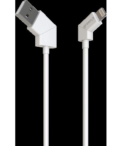Câble USB/ Lightning green_e blanc...