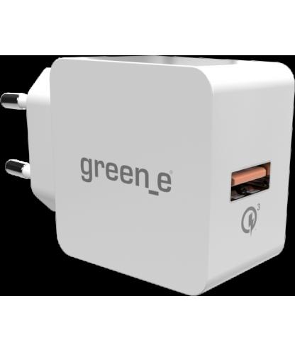 Chargeur secteur blanc Green_e 3.0 A